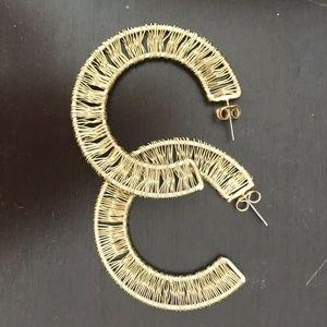 Anthropologie Gold Hoop Earring